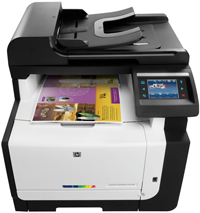HP LaserJet Pro CM1415fnw Printer